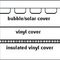 Pool Cover Options, bubble or solar cover. Vinyl Cover, Insulated Vinyl Cover