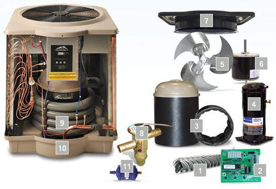 Summit Pool Heat Pump Parts