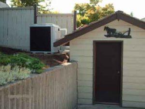 Pool heat pump installation