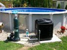 above ground pool with pool heat pump