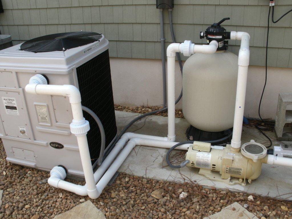Heat siphon c375hp pool heat pump 96 000 btu - Swimming pool heater installation ...